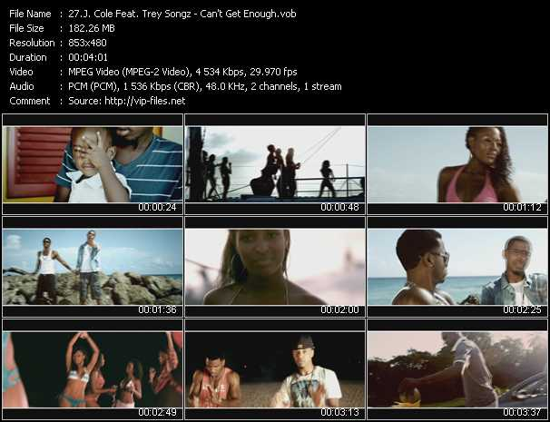 J. Cole Feat. Trey Songz video - Can't Get Enough