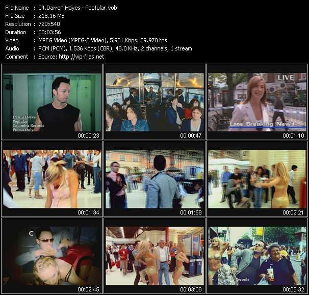 Darren Hayes video - Pop!ular
