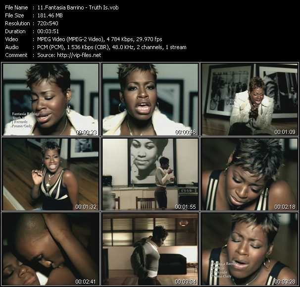 Fantasia Barrino video - Truth Is