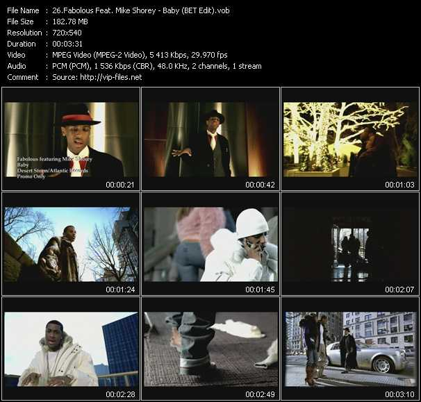 Fabolous Feat. Mike Shorey video - Baby (BET Edit)