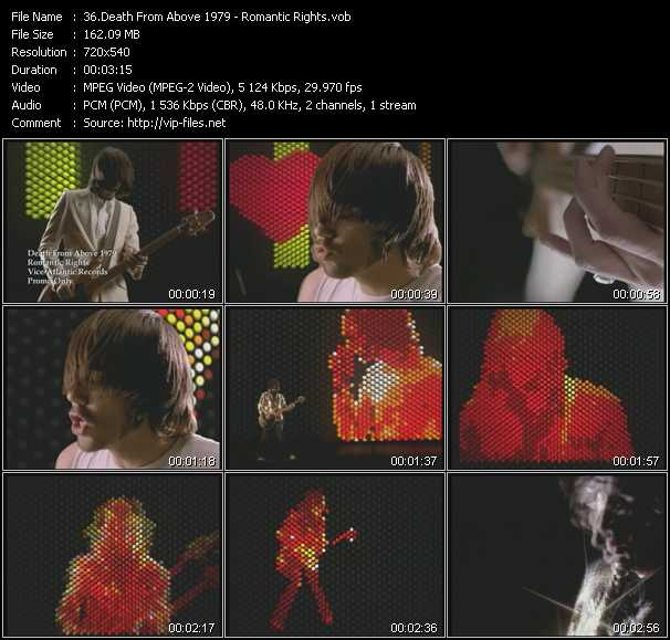 Death From Above 1979 video - Romantic Rights