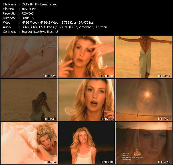 Faith Hill video - Breathe
