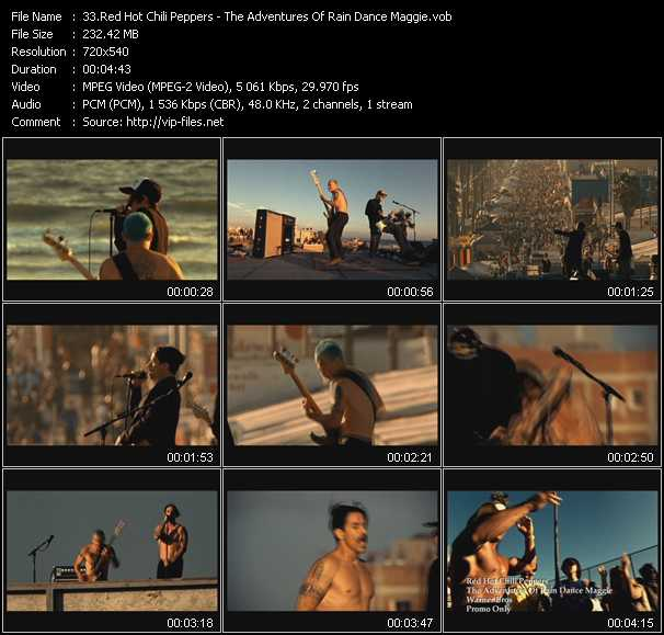 Red Hot Chili Peppers video - The Adventures Of Rain Dance Maggie