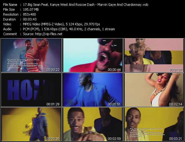 Big Sean Feat. Kanye West And Roscoe Dash video - Marvin Gaye And Chardonnay
