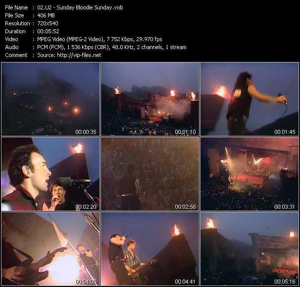 U2 video - Sunday Bloodie Sunday