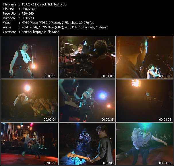U2 video - 11 O'clock Tick Tock