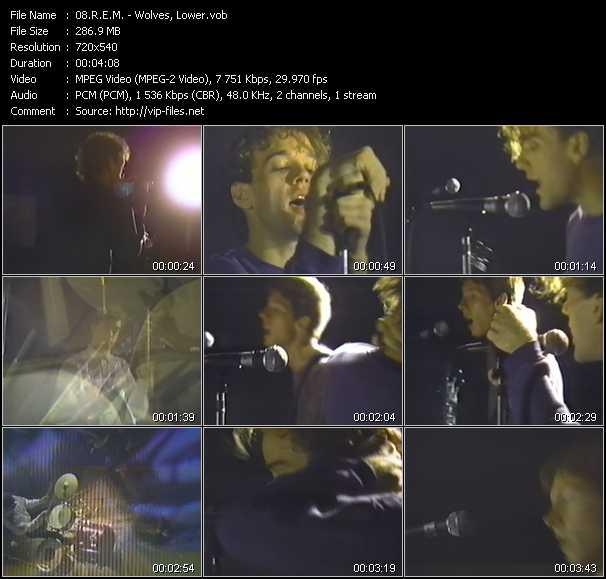 R.E.M. video - Wolves, Lower