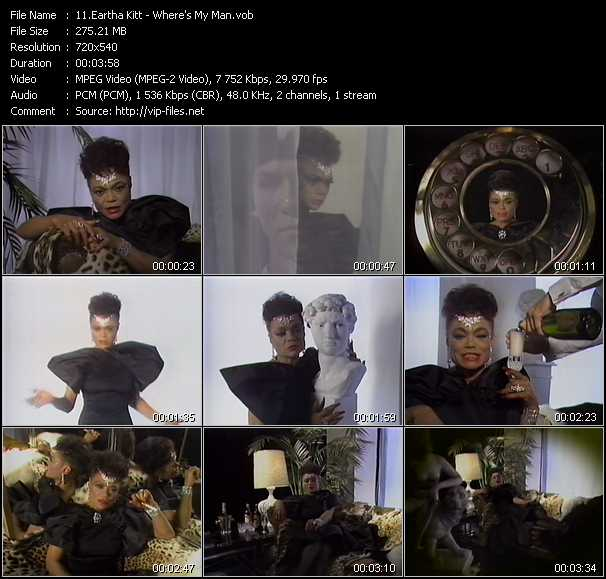 Eartha Kitt music video Publish2