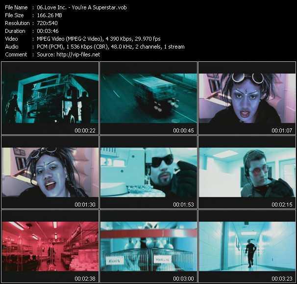 Love Inc. video - You're A Superstar