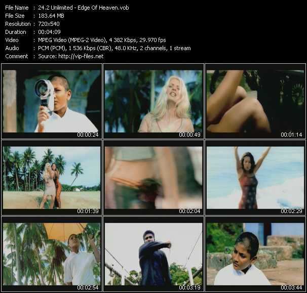 2 Unlimited video - Edge Of Heaven
