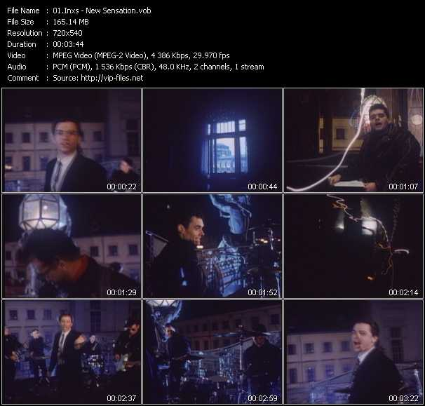 Inxs video - New Sensation