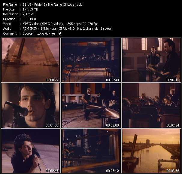 U2 video - Pride (In The Name Of Love)