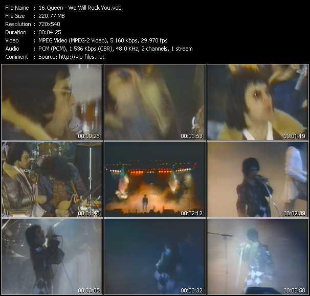 Queen video - We Will Rock You