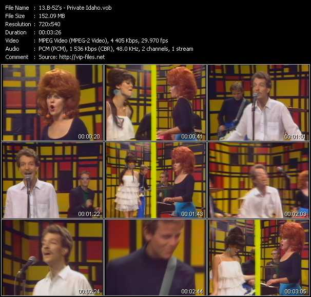 B-52's video - Private Idaho