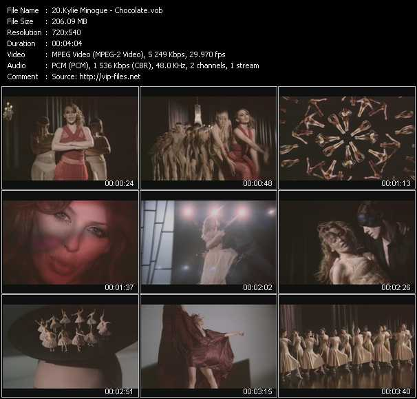 Kylie Minogue video - Chocolate