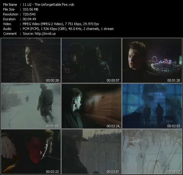 U2 video - The Unforgettable Fire