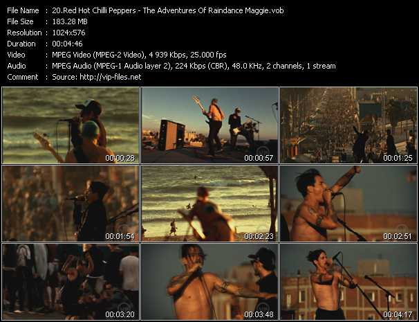 Red Hot Chili Peppers video - The Adventures Of Raindance Maggie