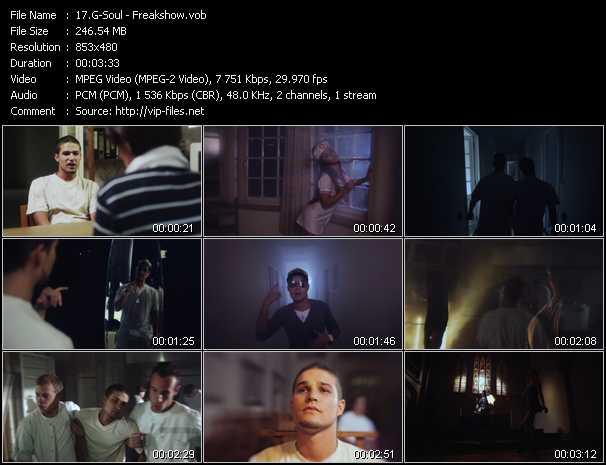 G-Soul video - Freakshow