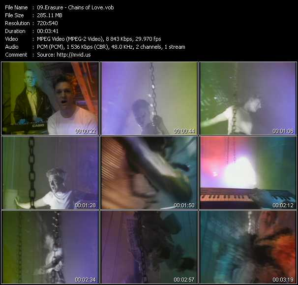 Erasure video - Chains of Love