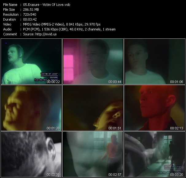 Erasure video - Victim Of Love
