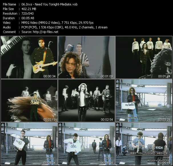Inxs video - Need You Tonight - Mediate