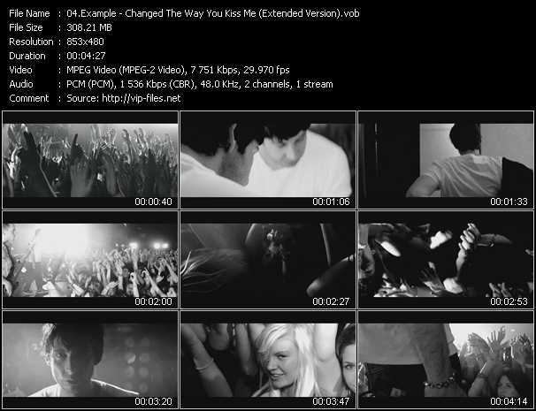 Example video - Changed The Way You Kiss Me (Extended Version)