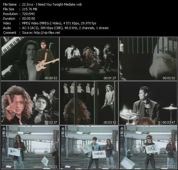Inxs video - I Need You Tonight-Mediate