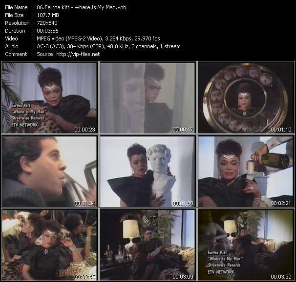 Eartha Kitt music video Publish2