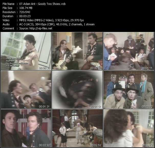 Adam Ant video - Goody Two Shoes