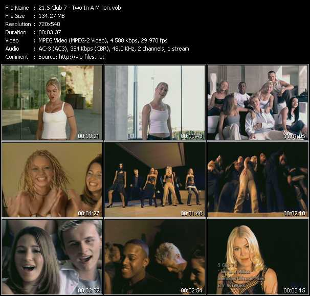 S Club 7 video - Two In A Million