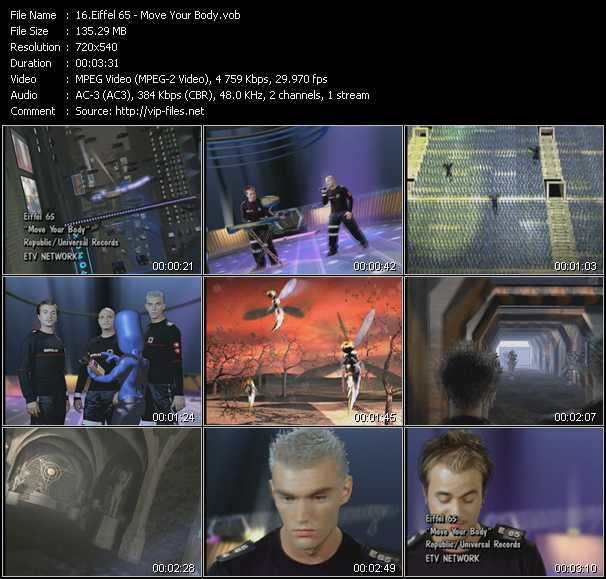Eiffel 65 music video Publish2