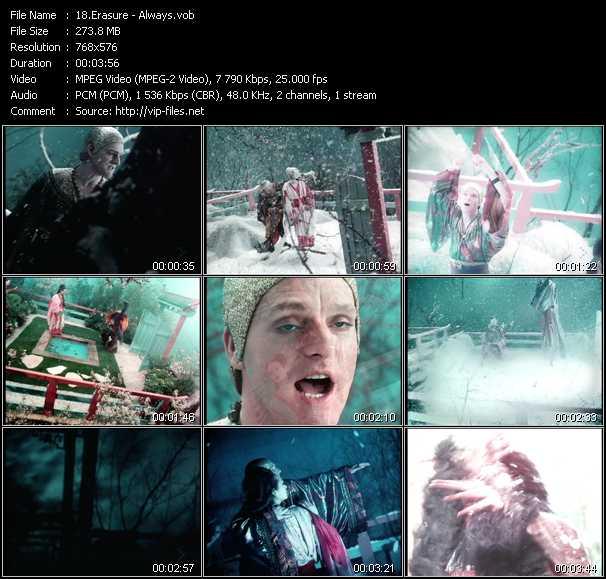 Erasure video - Always