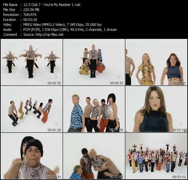 S Club 7 video - You're My Number 1