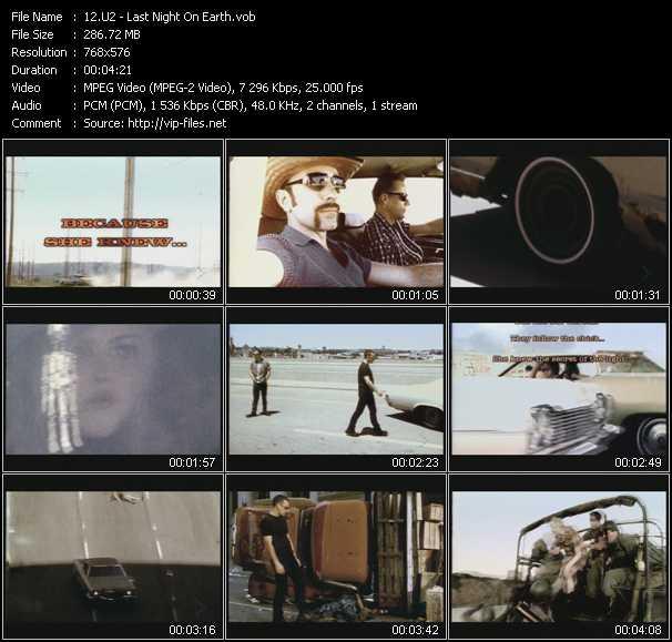 U2 video - Last Night On Earth