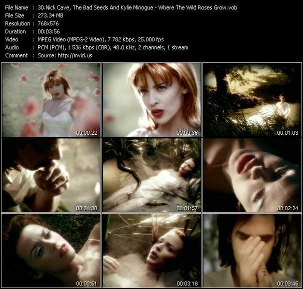 Nick Cave And The Bad Seeds With Kylie Minogue video - Where The Wild Roses Grow
