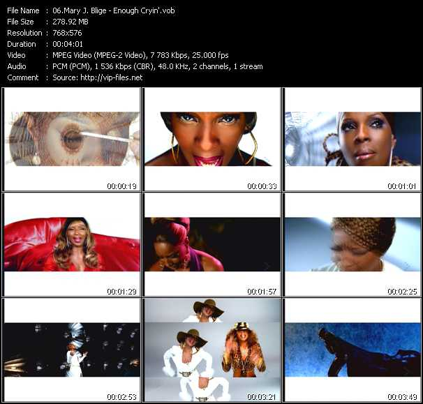 Mary J. Blige video - Enough Cryin'