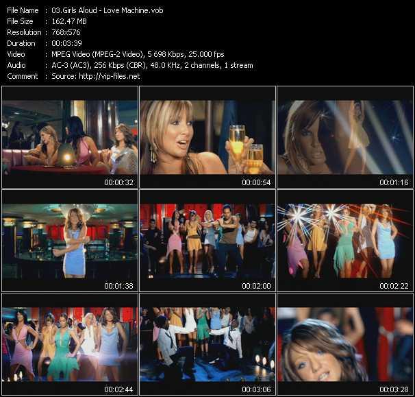 Girls Aloud video - Love Machine