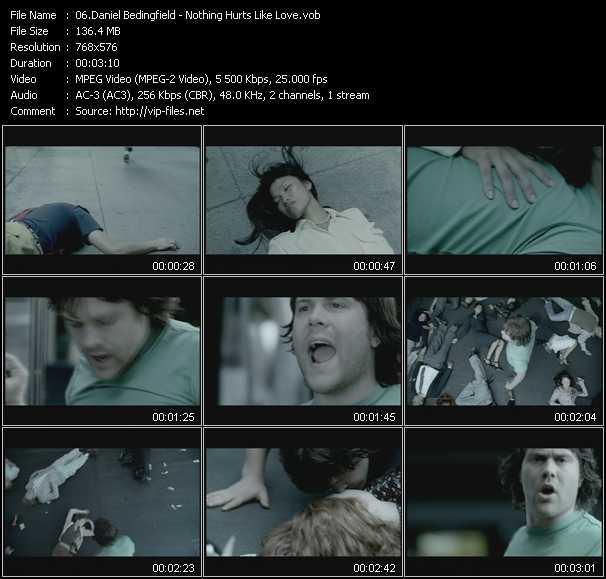 Daniel Bedingfield video - Nothing Hurts Like Love