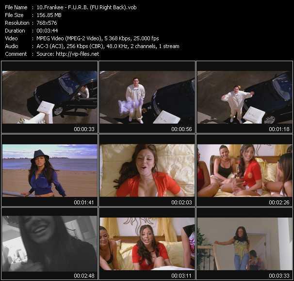 Frankee video - F.U.R.B. (FU Right Back)