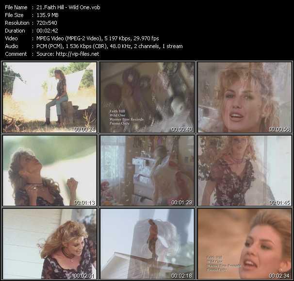 Faith Hill video - Wild One