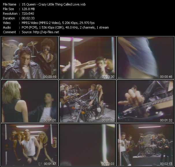 Queen video - Crazy Little Thing Called Love