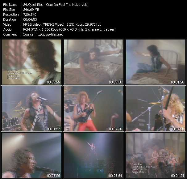 Quiet Riot video - Cum On Feel The Noize