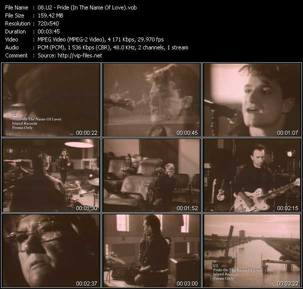 U2 video - Pride (In The Name Of Love)