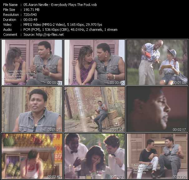 Aaron Neville video - Everybody Plays The Fool