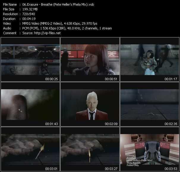 Erasure video - Breathe (Pete Heller's Phela Mix)