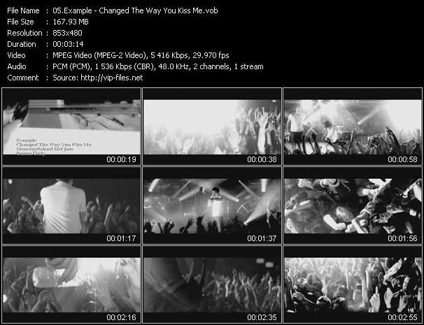Example video - Changed The Way You Kiss Me