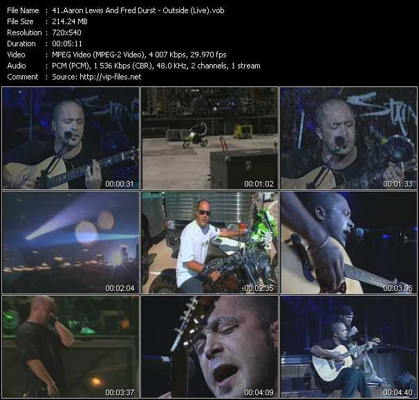 Aaron Lewis And Fred Durst video - Outside (Live)