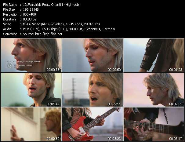Fairchilds Feat. Orianthi video - High