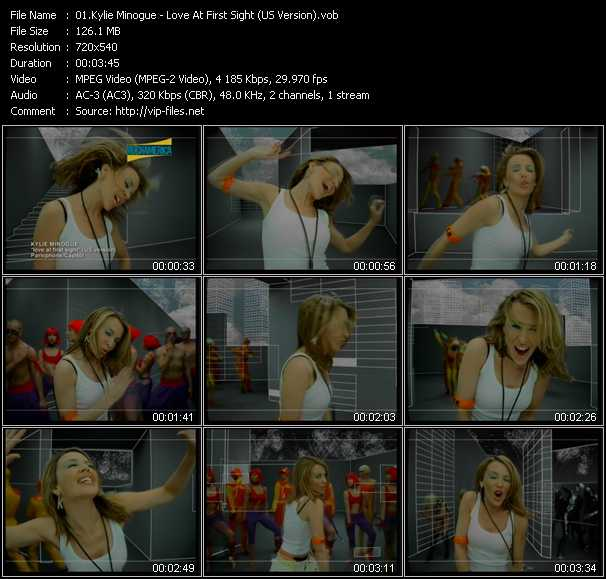 Kylie Minogue video - Love At First Sight (US Version)