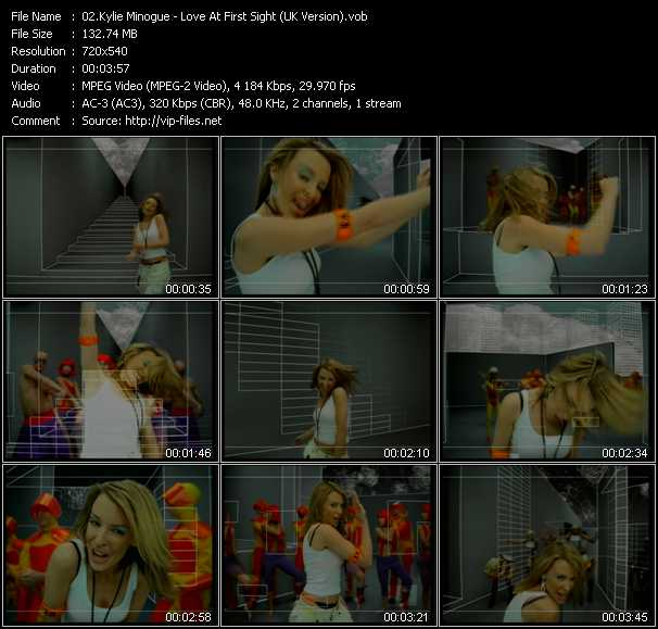 Kylie Minogue video - Love At First Sight (UK Version)